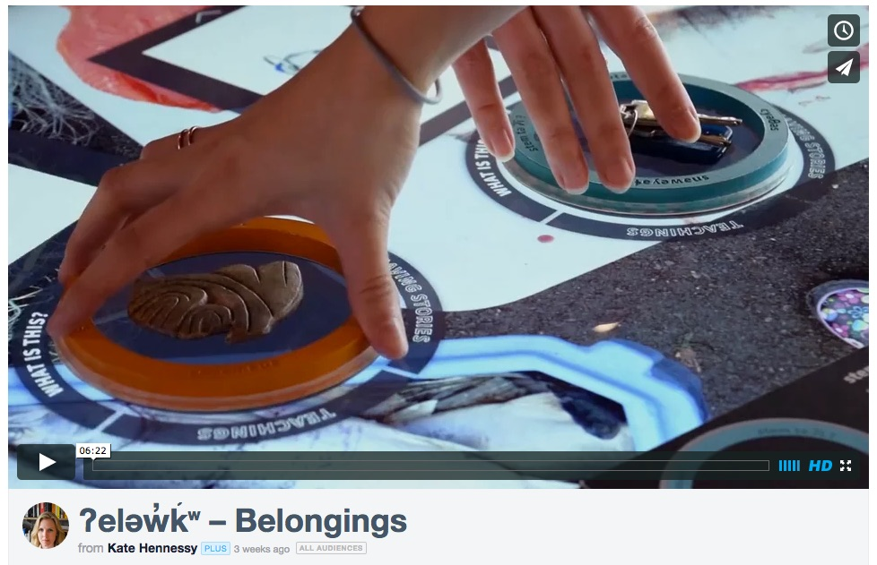 "Learn about our new collaboration ""ʔeləw̓k̓ʷ – Belongings"" at the Museum of Anthropology at UBC"