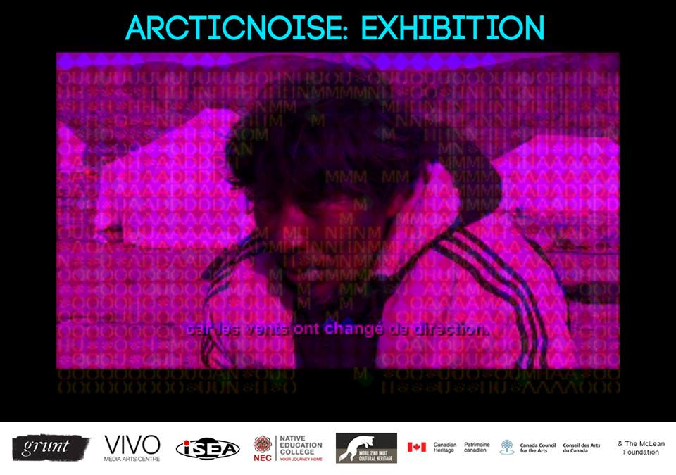 ARCTIC NOISE by Geronimo Inutiq at the grunt gallery, Vancouver, ISEA 2015