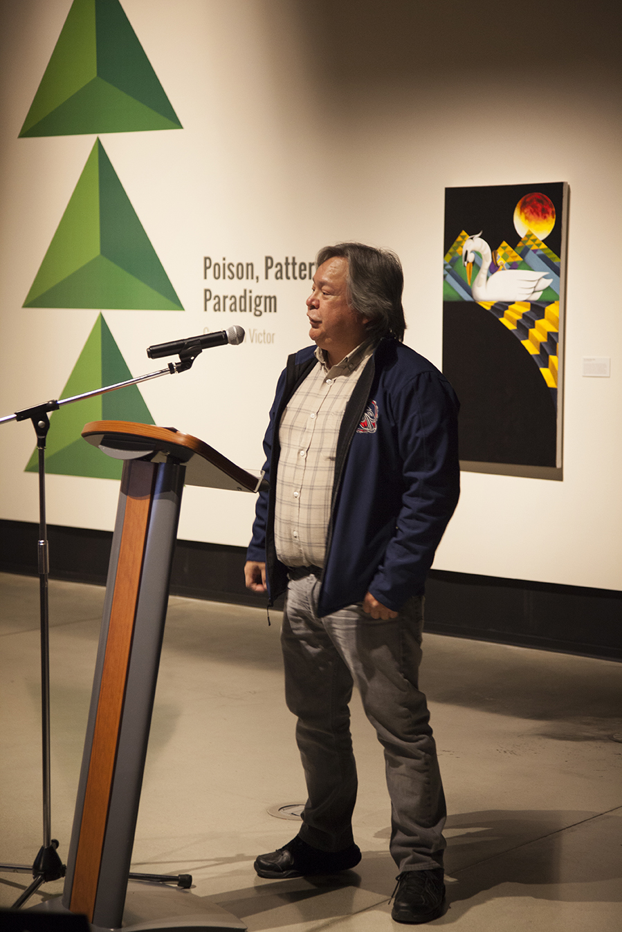 Chief Dalton Silver (Sumas First Nation) Welcomes the museum guests.