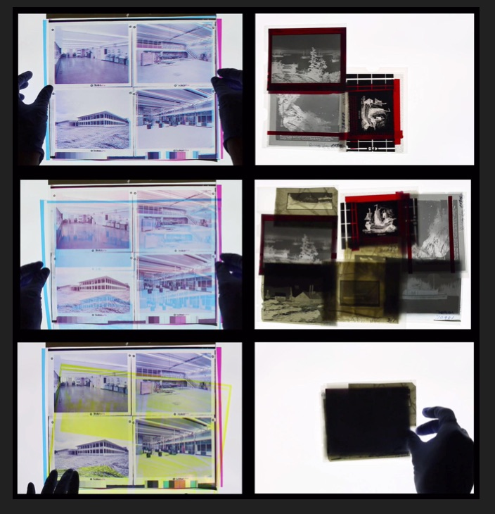 "Video stills, 'Residue: Proximal Interactions"" by Trudi Lynn Smith and Kate Hennessy, 2017."